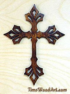 """Each Cross is cut from 1/8"""" Baltic Birch Plywood using a scrollsaw. The GRAIN of wood will vary since wood is a natural product. Nothing is outsourced or mass produced. I Only use real wood, the Crosses are High Quality Baltic Birch Plywood.   eBay!"""