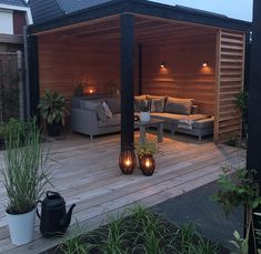 Ideas De Piscina, Ideas Terraza, Outdoor Pergola, Outdoor Rooms, Outdoor Living, Back Garden Design, Modern Garden Design, Backyard Patio Designs, Backyard Landscaping