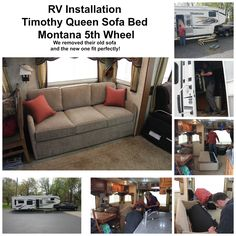 RV Sleeper Install - Fits through RV door!! Simplicity Sofas