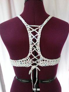 Free crochet pattern: Criss-Cross Top Bikini/Bra with tutorial by Rainbow Warrior
