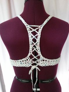 Free crochet pattern: Criss-Cross Top Bikini/Bra with tutorial by Rainbow Warrior