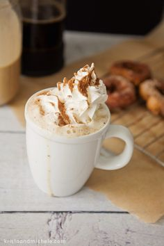 Pumpkin pie coffee creamer: 1 can coconut milk 6 tbsp pureed pumpkin 3 tbsp maple syrup 1 tsp cinnamon* 1/2 tsp nutmeg* 1/2 tsp all spice* 1/2 tsp vanilla extract