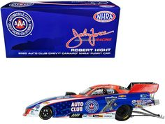 "Auto World 2020 Auto Club Chevrolet Camaro #1 Robert Hight ""AAA"" NHRA Funny Car ""John Force Racing"" 1/24 Diecast Model Car by Autoworld Brand New 1/24 Scale Limited edition. Brand new box. Real rubber tires. Accurate graphics. Has opening roof hatch. Made of diecast with some plastic parts. Detailed interior, exterior, engine compartment. Clamshell body upper half removable for display. Dimensions approximately L-9.5, W-3, H-3.75 inches Shipping - $9.99 All merchandise is shipped within 1-3… Roof Hatch, Rubber Tires, Diecast Model Cars, Car Humor, Chevrolet Camaro, Engineering, Racing, Club, Funny"
