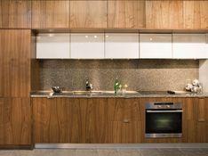 AyA Kitchens | Canadian Kitchen and Bath Cabinetry Manufacturer | Kitchen Design Professionals - Manhattan Country Walnut with Zenith White in Urban Moda