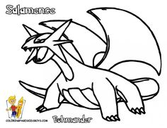 Salamence Coloring Pages to Print - Coloring For Kids 2019 Skull Coloring Pages, Mandala Coloring Pages, Coloring Pages To Print, Coloring Books, Toddler Coloring Book, Coloring Pages For Kids, Adult Coloring, Pokemon Coloring Sheets, Paisley Color