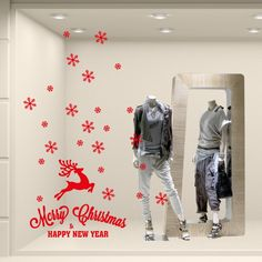 "Vetrofania ""Renna Merry Christmas con fiocchi"" http://www.adesivimurali.com/natale-vetrinistica/NT0369-renna-merry-christmas-con-fiocchi"