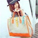 Casual PU Canvas Patchwork Fashion Women's Bags DTH-284169