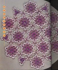 Album Archive Doilies Crafts, Beaded Crafts, Beaded Bags, Bead Art, Beaded Embroidery, Snowflakes, Helmet, Album, Ornaments