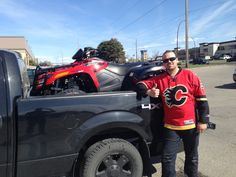 Jarryd with his new 700! Thanks for choosing Ralph's Motorsports! Go Flames Go!