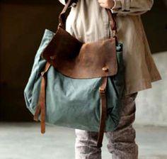 canvas and leather bag, Deutschland
