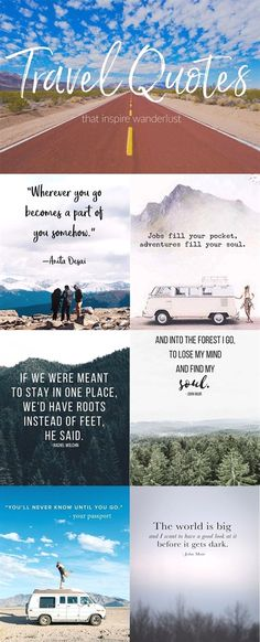 Travel Quotes that will inspire your Wanderlust! Amazing Travel Quotes that will inspire your Wanderlust!Amazing Travel Quotes that will inspire your Wanderlust! Amazing Travel Quotes that will inspire your Wanderlust! Travel Quotes Wanderlust, Best Travel Quotes, Best Quotes, Quote Travel, Inspirational Travel Quotes, Good Things Quotes, Happy Place Quotes, Some Good Quotes, Good Life Quotes