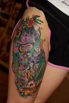 mine! by Kike Castillo octopus' garden yellow submarine tattoo