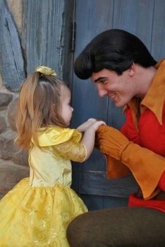 people really down play how magical the men at Disney are.  Disney / magic / mini belle / gaston / cute / love / WAHHH