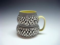 """""""double cup it"""" black stripes & polka dots"""