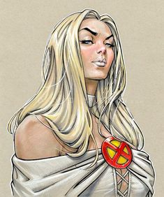 Emma Frost: The White Queen // artwork by David Yardin Copic Multi Liners & Markers, Prismacolor coloured pencils, and white Posca highlights. Comic Book Artists, Comic Book Characters, Marvel Characters, Comic Character, Comic Books Art, Comic Art, Comic Pics, Emma Frost, Marvel Women