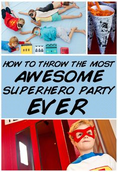"How To Throw The Most Awesome Superhero Party Ever Ideas for Charlotte's ""Create your Own Superhero"" Birthday Party. Superhero Birthday Party, 4th Birthday Parties, Birthday Fun, Birthday Ideas, Superman Birthday, Hip Hip, Impreza, Party Planning, Party Time"