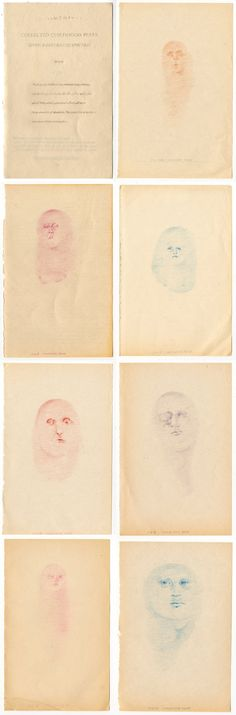 Collected Childhood Fears, Seven Illustrated Spectres, Eleanor Phillips, 2013 Childhood Fears, People Art, Colouring, Colored Pencils, Fine Art Prints, Contemporary, Paper, Illustration, Collection