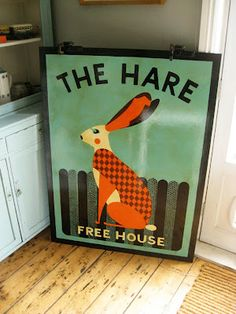 Tom Frost pub sign 'The Hare'
