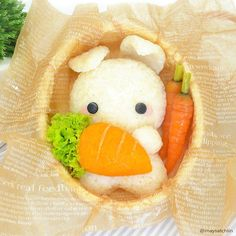 Kawaii Usagi Bento Plus<br> Bento Kawaii, Japanese Food Art, Japanese Sweets, Japanese Snacks, Cute Bento Boxes, Kawaii Cooking, Bento Recipes, Bento Ideas, Cute Desserts