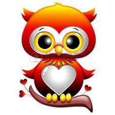 Ilustração de Baby Owl Love Heart Cartoon arte vetorial, clipart e vetores stock. Image 17613845.