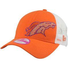 New Era Denver Broncos Ladies Jersey Shimmer 9Forty Mesh Adjustable Hat - White/Orange  #FanaticsWishList @Fanatics ®