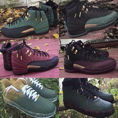 online retailer 443f6 d7775 Zapatos, Jordans Personalizados, Nikes Negros, Tipos De Zapatos, Verde Y  Oro,