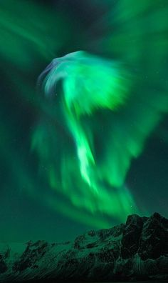 Northern lights over the arctic circle