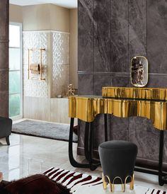 Do you think it's time to transform your bathroom design? Then click to read our article! #luxuryhomes #homedesign #bathroomdecor #homedecor #luxurydesign #luxuryfurniture #contemporarydesign #bathroomideas #luxurybathroom Bathroom Design Luxury, Luxury Interior Design, Bath Design, Tocador Vanity, Suite Principal, Bathroom Trends, Bathroom Furniture, Interior Inspiration, Dressing Room