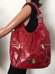 Nine West Bag Burgundy Red Hobo Designer Fashion Hip Chic Women  | eBay