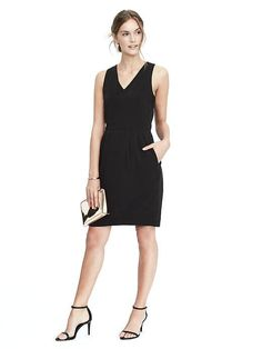 """Just bought this dress for holiday party. Super comfy, fits the """"gurls"""" (had to go a size up though) AND has pockets. Oh wait - check out the bow back!"""