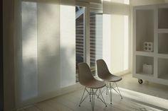 Zonnelux paneel gordijnen in de woonkamer