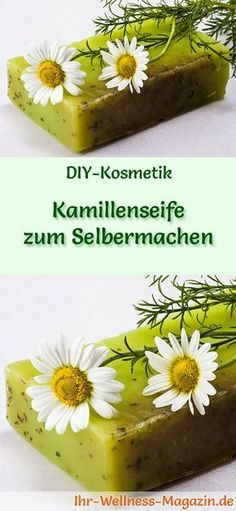 Do-it-yourself chamomile soap - soap recipe & instructions- Kamillenseife zum Selbermachen – Seifen-Rezept & Anleitung Make soap – soap recipe: do-it-yourself chamomile soap – with a soothing and anti-inflammatory effect and a pleasant fragrance … - Soap Making Recipes, Homemade Soap Recipes, Homemade Vanilla, Recipe Making, Shampooing Diy, Diy Beauty Blender, Soap Manufacturing, Aloe Vera, Slime