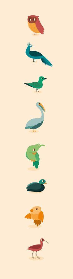 Genera Avium, Genera Piscis by Raquel Jove, via Behance