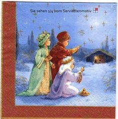 Wir bringen Geschenke - 4 Servietten von Serviettenhaus auf DaWanda.com