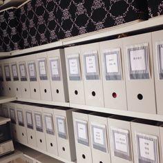 ファイルボックス+ラベルの技あり収納