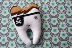 Boy tooth fairy pillow... the eye patch is a pocket