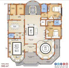 Köşk-1 2bhk House Plan, 3d House Plans, Model House Plan, Duplex House Plans, House Layout Plans, Apartment Floor Plans, Best House Plans, Dream House Plans, Luxury Floor Plans
