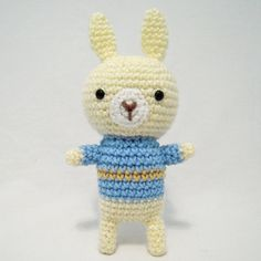"Sweater Bunny Free Amigurumi Pattern  PDF version ( click ""download"" or ""Free Ravelry download"")  http://www.ravelry.com/patterns/library/sweater-bunny"