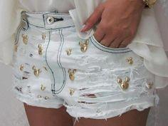 short jeans mickey