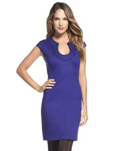 Trina Turk dress in a gorgeous cobalt blue. A perfect work dress.
