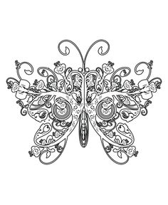The Butterfly Has Wings Like The Queen Coloring Page