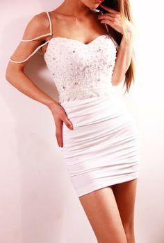 Sexy Low-cut Lace Beading Strap Dress [grhmf260002026]