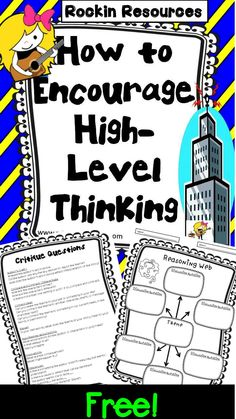 What is an effective way to get your students thinking at a deeper level? Let me share what works well for my students! Lesson Plans for any book List of Character Traits for student notebooks Possible Themes poster or Evidence Critique Questions . Teaching Strategies, Teaching Tips, Teaching Reading, Critical Thinking Activities, Writing Activities, Educational Activities, Guided Reading, Higher Order Thinking, Gifted Education