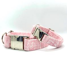 Check out our handmade dog collars at our online boutique shop. cotton dog collars, bow ties, dog toys, dog beds and so much more! Pink Dog Collars, Handmade Dog Collars, Diy Pet, Dog Shop, Dog Bows, Dog Bandana, Dog Accessories, Cute Pink, Pet Toys