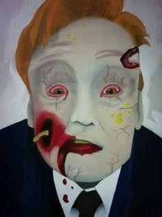 Zombie Conan Face art - Coco MoCA @ TeamCoco.com