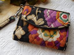 Vera Bradley Retired Suzani Wristlet Phone Holder Wallet