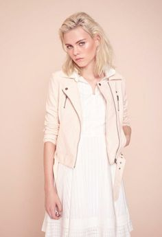 @French Connection Peachy leather & crisp whites #SS14 #regentstreet #fashion