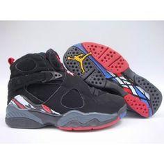 Air Jordan Original - OG 8 (VIII) Playoffs Black - Black - True Red $53.00 Low price go to:  http://www.jordanshoesmart.com