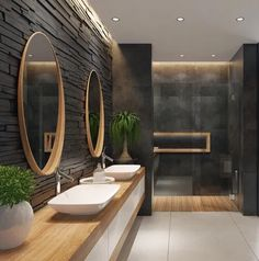 bathroom 2021 – Szukaj wGoogle Bathroom Mirror Design, Bathroom Lighting Design, Best Bathroom Designs, Bathroom Design Luxury, Bathroom Styling, Dream Bathrooms, Amazing Bathrooms, Interior Design Classes, Suite Principal
