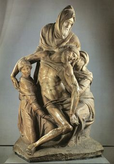 Michelangelo's unfinished Pieta at the Duomo Museum, Florence, Italy. Michelangelo died before he could finish sculpting
